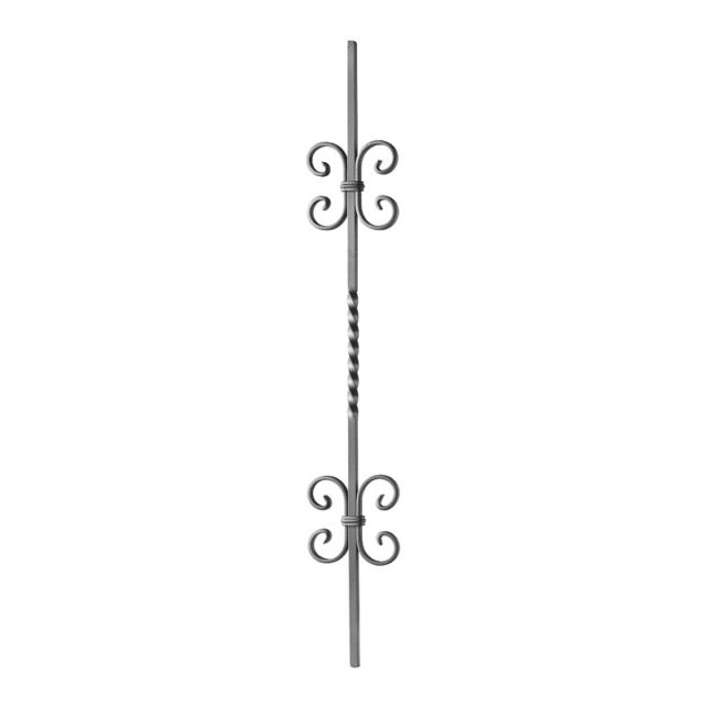 Kaidepinna kierteellä ja c- koristeilla