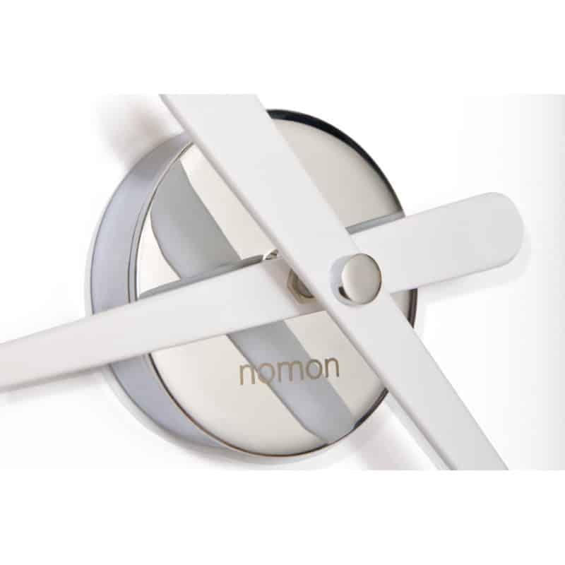 Nomon kello, Kello Rodon mini L valkoinen, pelkistetty seinäkello, kellon viisarit, seinäkello rodon, rodon
