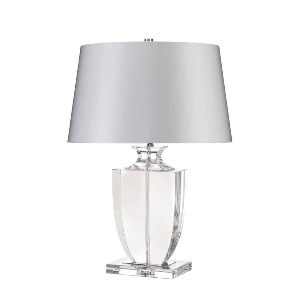 Kristalli pöytälamppu hopea varjostin, luksus pöytälamppu