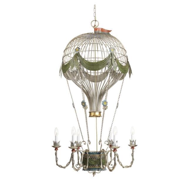 Kuumailmapallovalaisin on suuri valaisin, joka on valmistettu antiikki valaisin mallin mukaan.