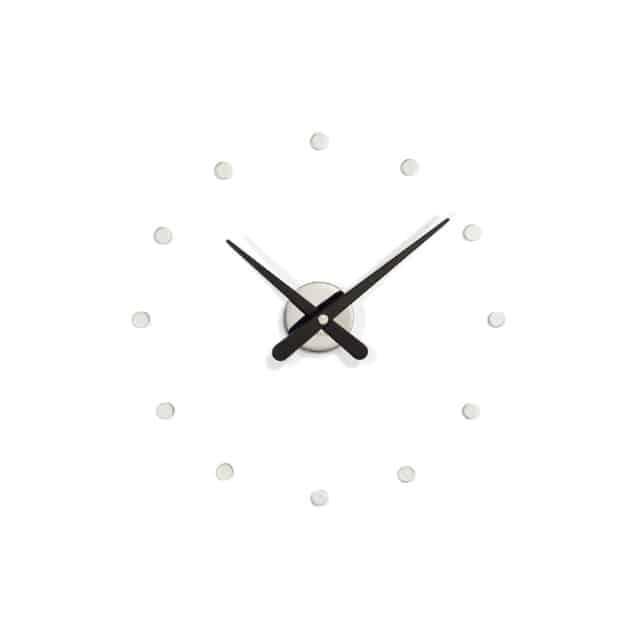 Seinäkello Rodon mini L musta, Nomon kello, seinäkello, yksinkertainen seinökello