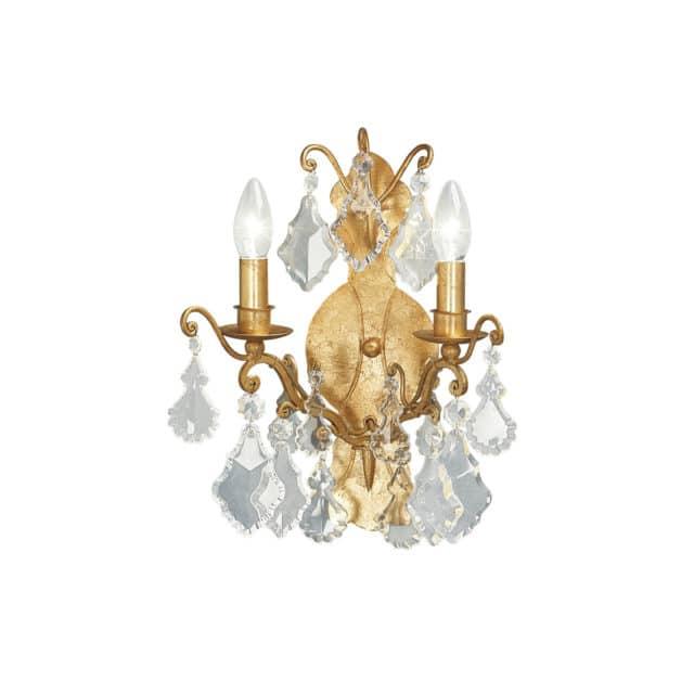 Uusvanha seinälampetti 148, lampetti kristalleilla