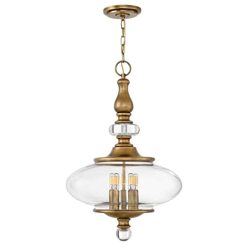 Perinteinen riippuvalaisin viidellä lampulla