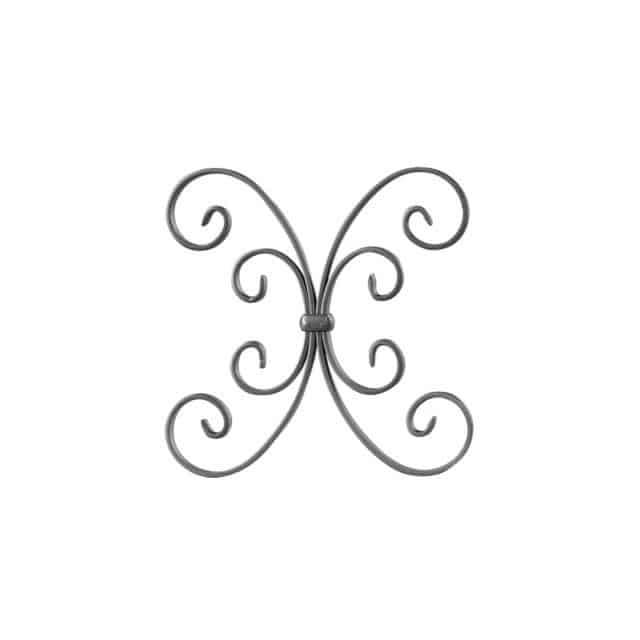 Takorautakoriste perhonen on kaunis koriste aidassa ja portissa.