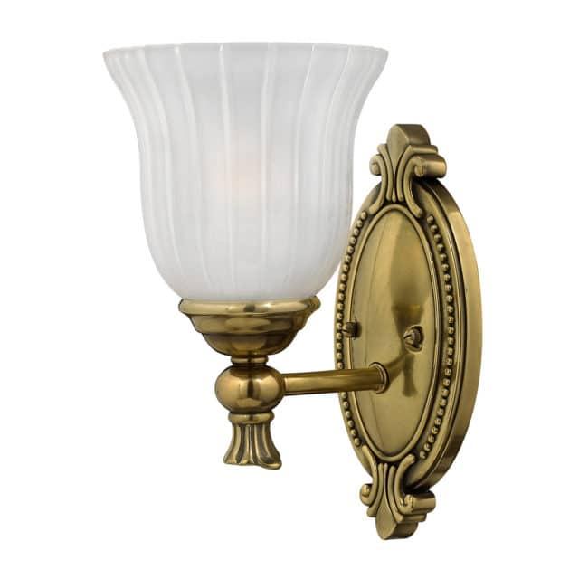 Tyylikäs koristellinen valaisin kylpytilaan
