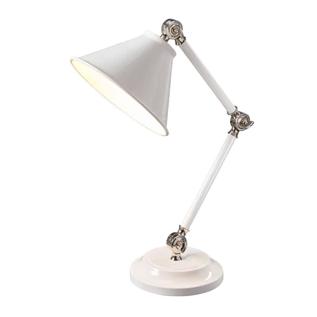 Valkoinen taittuva pöytälamppu, taittuva pöytälamppu, valkoinen pöytälamppu