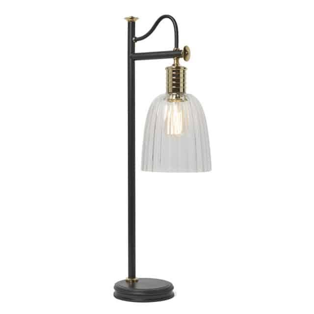 Vintage pöytälamppu, musta pöytälamppu vintage, musta pöytälamppu lasikupu