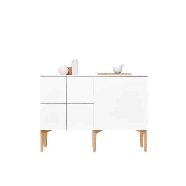 Lundia Fuuga senkki on väriltään valkoinen ja edustaa skandinaavista tyyliä.